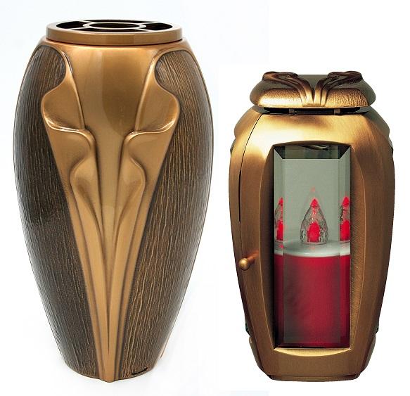 Brončani vaza i svijećnjak za nadgrobni spomenik